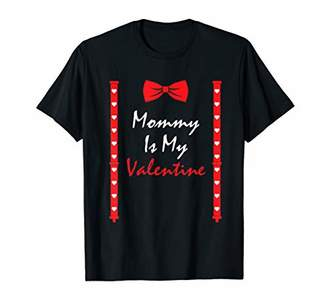Mommy Is My Valentine T Heart Mom Suspenders Bow Tie Shirt