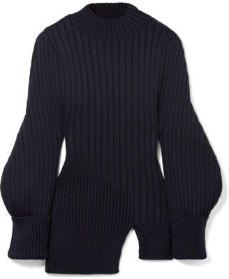 Pablo Ribbed Wool Sweater - Midnight blue