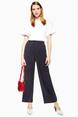 Topshop Womens Cupro Wide Leg Trousers