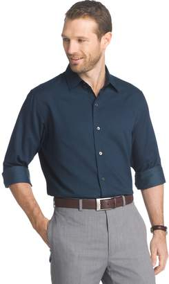 Van Heusen Men's Slim-Fit Dot Easy-Care Button-Down Shirt