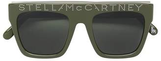 Stella McCartney large logo sunglasses