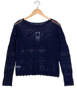 Polo Ralph Lauren Girls' Long Sleeve Knit Sweater w/ Tags