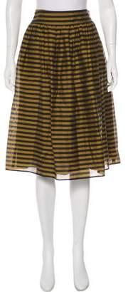 Burberry Silk-Blend Skirt