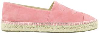 Chanel Pink Suede Flats