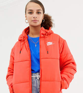 Nike Red Padded Jacket With Hood