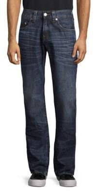 True Religion Straight-Leg Run-Stitch Jeans
