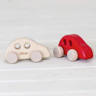 Natural Gift Store Personalised Mini Wooden Car