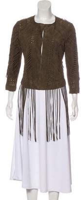 Haute Hippie Leather Fringe Jacket w/ Tags