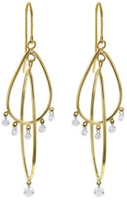 Aero Diamonds Gypsy Swivel Diamond Earrings - Yellow Gold