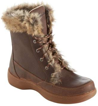 L.L. Bean L.L.Bean Women's Waterproof Nordic Casual Boots, Leather Lace-Up