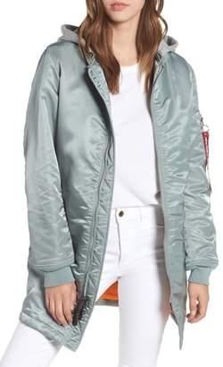 Alpha Industries MA-1 Natus Long Hooded Jacket