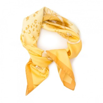 Salvatore Ferragamo Yellow Silk Scarves
