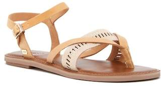 Toms Lexie Sandstorm Metallic Leather Thong Sandal