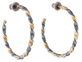 Gurhan Two-Tone Hoop Earrings