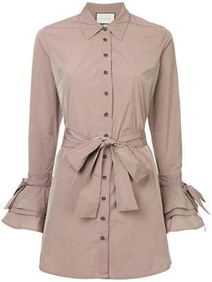 Alexis ruffled sleeve shirt dress