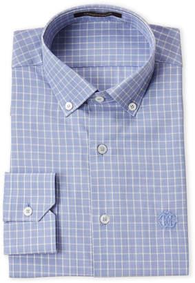 Roberto Cavalli Blue Check Dress Shirt