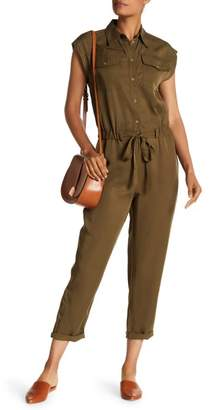 Max Studio Tapered Crop Leg Jumpsuit