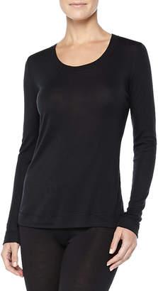 Hanro Cashmere-Silk Blend Long-Sleeve Shirt, Black