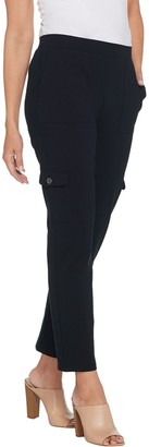 Susan Graver Petite Premium Stretch Pull-On Cargo Pants