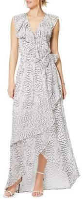 Ramy Brook Wilma Printed Ruffle High-Low Maxi Dress