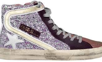 Golden Goose High-cut Glittered Sneakers
