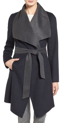 MICHAEL Michael Kors Double Face Wool Blend Wrap Coat $270 thestylecure.com