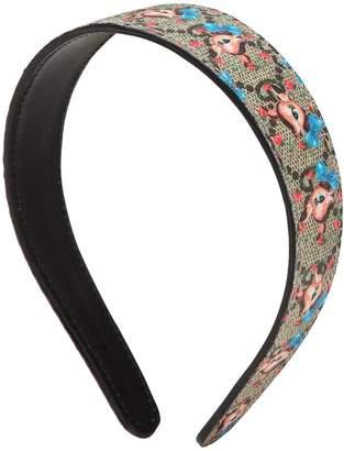 Gucci Gg Supreme Leather Headband