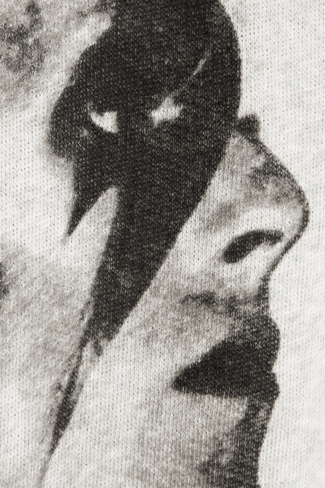 Maje Flash David Bowie-print cotton-jersey sweatshirt