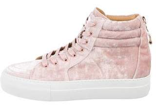 Buscemi High-Top Velvet Sneakers w/ Tags