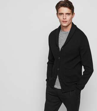 Reiss MONTREAL SHAWL-COLLAR CARDIGAN Black