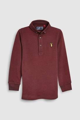 Next Boys Berry Long Sleeve Polo (3-16yrs)