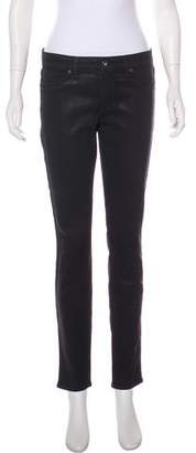 Rich & Skinny Mid-Rise Coated Jeans