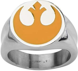 Star Wars FINE JEWELRY Rebel Symbol Mens Stainless Steel Ring