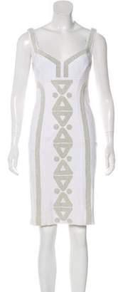 Diane von Furstenberg Sleeveless Bodycon Knee-Length Dress