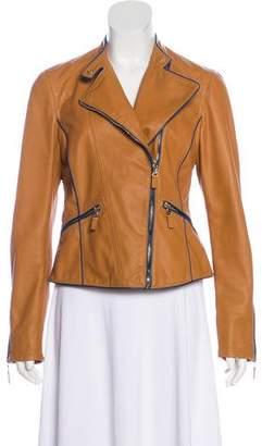 Etro Leather Moto Jacket