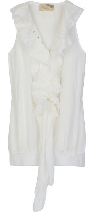 Elizabeth and James Shipwreck sleeveless silk blouse