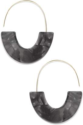 BaubleBar Faidra Thin Drop Acrylic Oval Hoop Earrings