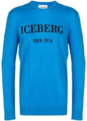 Iceberg logo print slim fit jumper