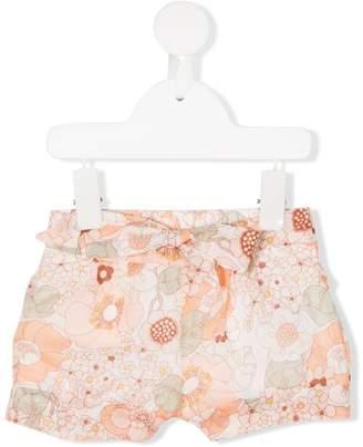 Chloé Kids floral bow shorts