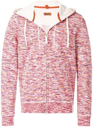 Missoni jersey zipped hoodie