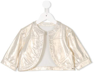 Miss Grant Kids studded cropped jacket