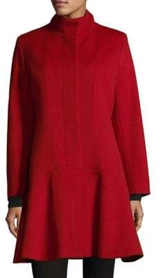 Sofia Cashmere Long Sleeve Funnelneck Coat