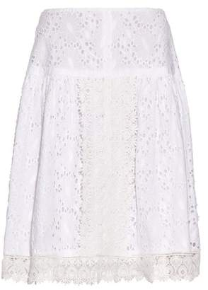 Marianna Queene And Belle Broderie Anglaise Skirt - Womens - White