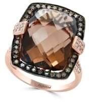 Effy Sienna Diamond, Smoky Quartz and 14K Rose Gold Ring