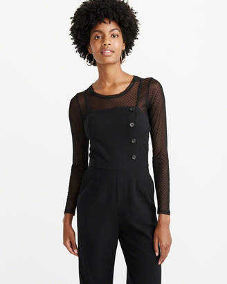 Abercrombie & Fitch Long-Sleeve Sheer Tee