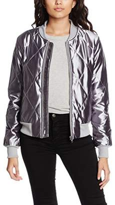 MinkPink Women's Braveheart Quilted Bomber Parka Long Sleeve Jacket,(Manufacturer Size:Small)