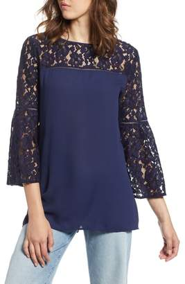 Halogen Lace Bell Sleeve Top