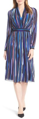 Women's Anne Klein Stripe Fitted A-Line Dress $139 thestylecure.com