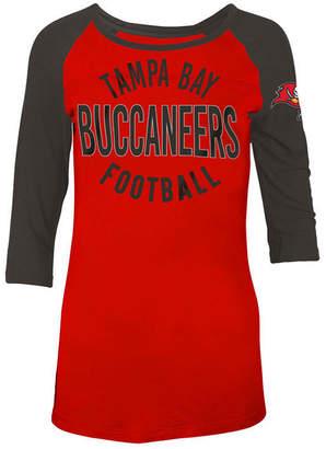5th & Ocean Women's Tampa Bay Buccaneers Rayon Raglan T-Shirt