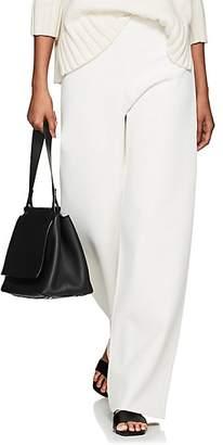 The Row Women's Lala Compact Knit Wide-Leg Pants - White